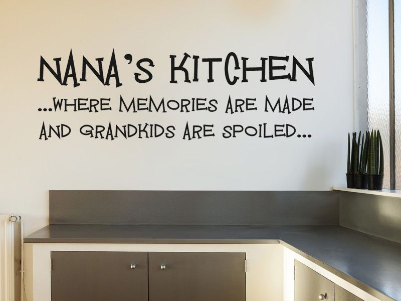 ... Nanau0027s Kitchen   Wall Art Sticker Vinyl Transfer, Modern Wall Decal